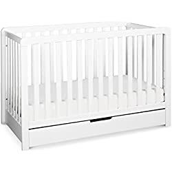 Carter's by Davinci Colby 4-in-1 Convertible Crib with Trundle Drawer, White