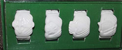 Russ Celtic Blessings Porcelain Set of 4 Napkin Rings -minor box damage