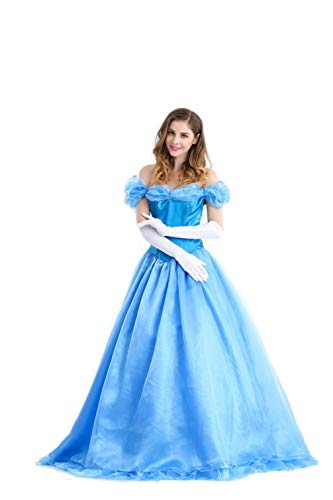 Women's Halloween Cinderella Princess Dress Cosplay Party Costume Performance Dresses (X-Large)]()