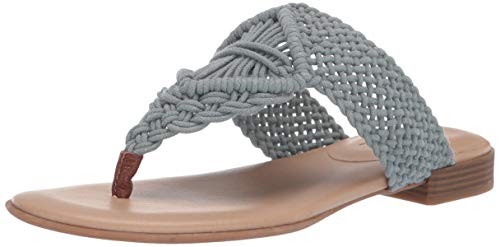 SOUL Naturalizer Women's RELAX Sandal, STONEWASH DENIM, 8 M US ()