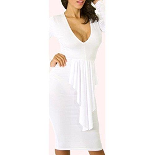 Pinkyee - Vestido - para mujer blanco