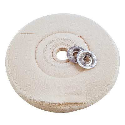 Dico Flannel Buffing Wheel, 8'' Dia x 1/2'' THK 5/Case (3 Case)