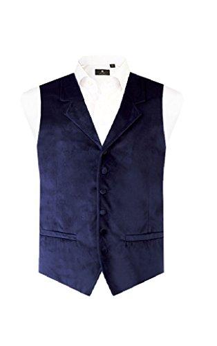 Gilet de Costume en Velours Bleu Marine Alexander Dobell - Idéal pour les fêtes de fin d'année