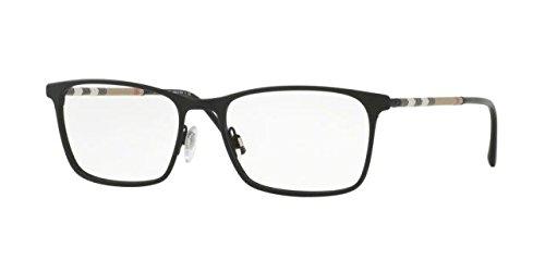 Burberry Men's BE1309Q Eyeglasses Black Rubber 54mm