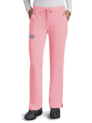 (Grey's Anatomy Signature 2207 Callie Low Rise Pant Rose Blush M Petite)