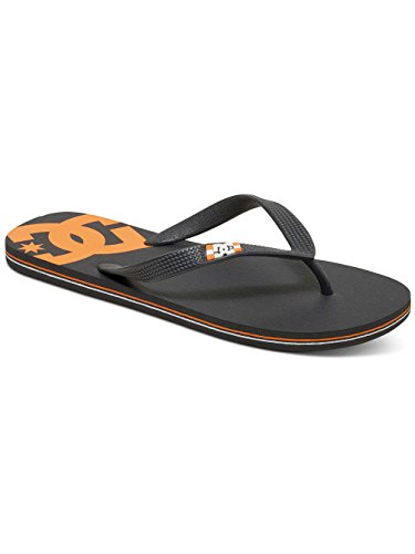 DC Shoes Spray Mens Shoe D0303272-1 - Chanclas de caucho para hombre gris/naranja
