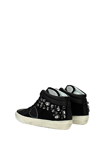 MDHDDX02 Philippe Model Sneakers Mujer Piel Negro Negro