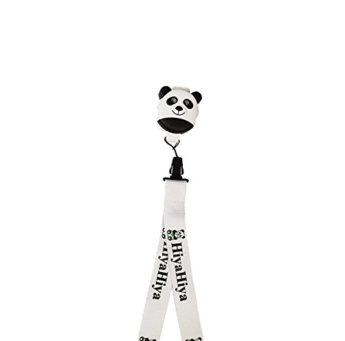 Wei/ß 5,5/x 4/x 1,5/cm hiyahiya Panda Click-it und Schl/üsselband