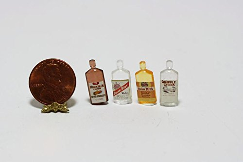 Dollhouse-Miniature-112-Scale-Four-Bottles-of-Liquor