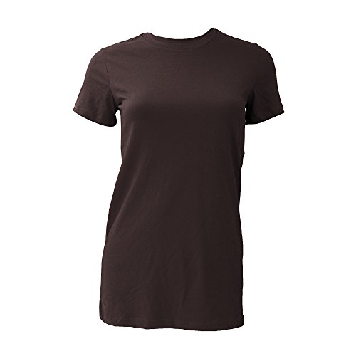 6000 Bella Jersey Knit Tee - Bella Ladies Jersey Knit Tee, Chocolate, S