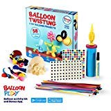 BalloonPlay Balloon Animal Kit with Bonus Balloon App with 40+ instructional Balloon Videos 58 quality balloons 4 different types pump markers stickers fun balloon activity kits for all ages
