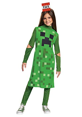 Disguise Minecraft Creeper Girls' Costume