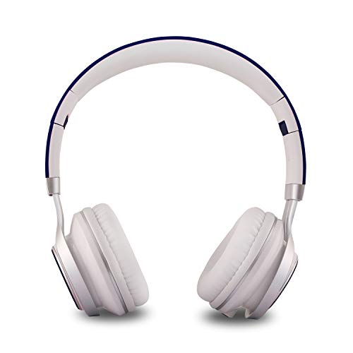 Alltrum On-Ear Headphone, Adjustable Headsets for Kids, Teens,Children, Adults, Foldable Headphones with Microphone, Wired Modes Compatible for Cellphones/ MP3/ MP4/ PC/ iPad,Navy blue