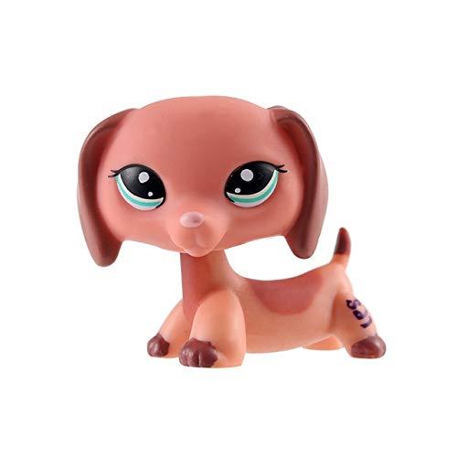 Cute Lps Pet Shop PVC Cat Toy Tiger Cat Dadan Dog Dachshund - Toys Pug Kids Pully