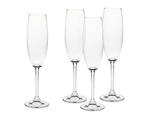 Godinger Meridian 7 Oz. Fluted Champagne Glasses - Set of 4