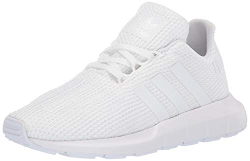 adidas Originals Unisex Swift Running Shoe, White, 5.5 M US Big Kid (Women White Adidas)