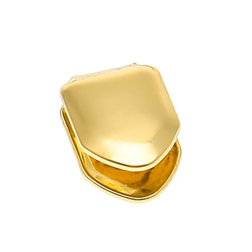 ROSENICE Tooth Cap Hiphop Tooth Unisex Trendy Solid 14k Gold Plated Small Single Hip Hop Teeth -