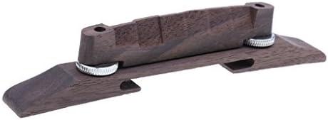 アーチトップジャズギターのためのギターの橋彫りローズウッドサドル