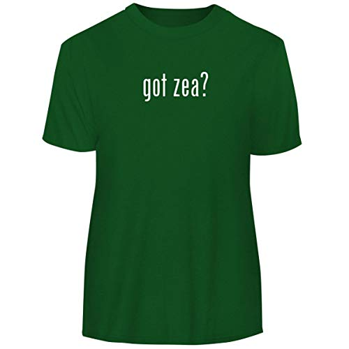 One Legging it Around got zea? - Men's Funny Soft Adult Tee T-Shirt, Green, X-Large