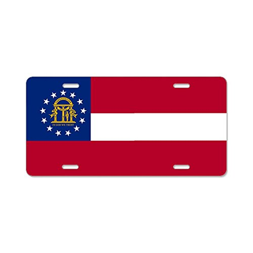 CafePress - Georgia State Flag - Aluminum License Plate, Front License Plate, Vanity Tag ()