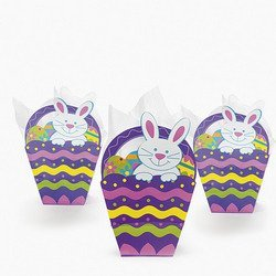 - Fun Express Paper Easter Basket-shaped Gift Bags ( 1 Dozen)