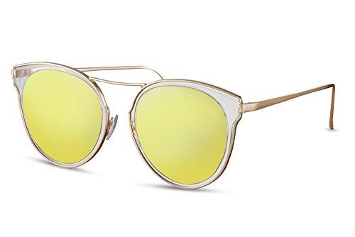 Sol UV400 Gafas Espejadas de Gold1 Lentes Cheapass Metálicas dqCFXxX