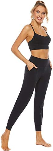 STELLE Women's Sweatpants High Waisted Joggers Yoga Athletic Tapered Pants with Pockets