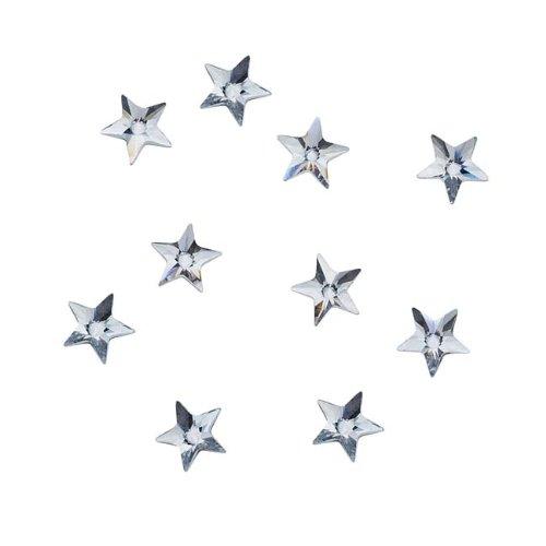 Swarovski Crystal, 2816 Rivoli Star Flatback Rhinestone 5mm, 10 Pieces, Crystal