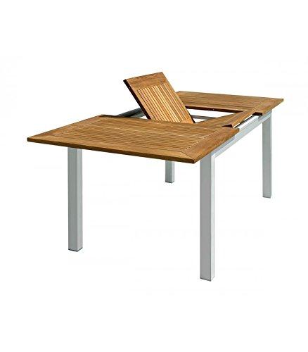 Tavolo Allungabile Da Esterno Prezzi.Levante Tavolo Da Esterno Allungabile In Alluminio E Teak Amazon