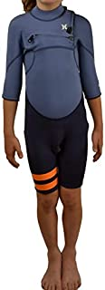 Hurley Fusion 2/2 S/S obsidian Chest Zip Shorty Kids Wetsuit Dimensione XS
