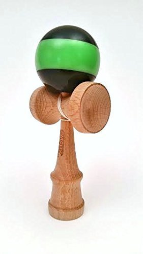 Catchy Standard Kendama Black and Green From The YOYOFACTORY by Catchy Standard