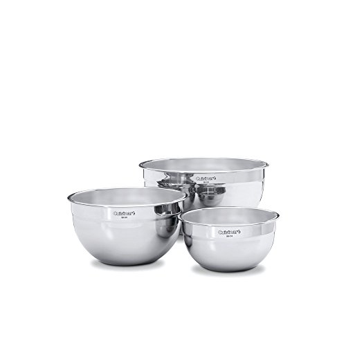 Cuisinart 3-Piece Stainless Steel Mixing Bowl Set by Cuisinart