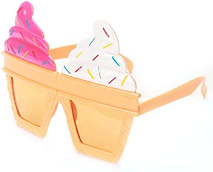 Adult Kid Funny Party Glassed Ice Cream Ice Lolly Cupcake Party Fancy Dress
