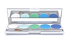 Kryolan 9335 SHADES 5 Color Eye Shadow Makeup Palette, 19 color options available (Dublin)