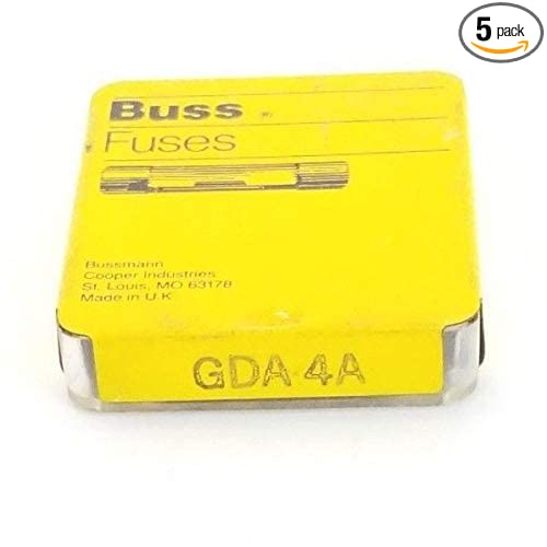 High Breaking Capacity Cartridge 250 V Ul Recognized 5 Pack Bussmann GDA-4A 4 Amp Ceramic Fast Acting