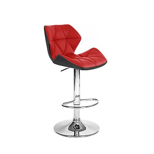 Set of 2 Spyder Contemporary Adjustable Barstool - Black/Red (Red Barstool)