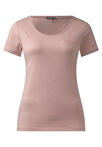 Street One - Camiseta - Básico - Manga corta - para mujer Rosa (shadow rose)