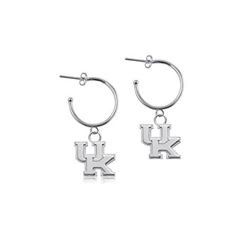 (University of Kentucky Wildcats UK Sterling Silver Jewelry by Dayna Designs (Hoop Earrings))
