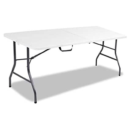 Cosco Products 6 Feet Centerfold Folding Table Color White Specked Pewter Complete Set