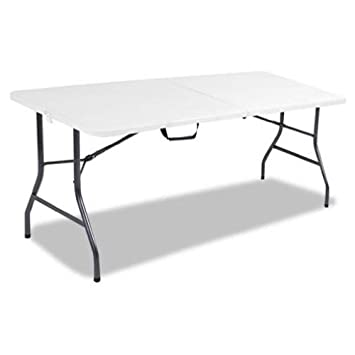 Cosco Products, 6-feet Centerfold Folding Table, Color White Specked Pewter Complete Set