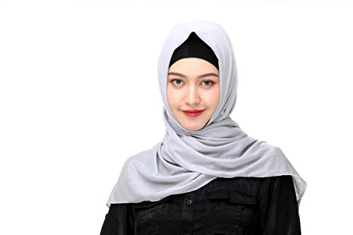 Classic Jersey Cap (Uphily Classic Long Muslim Scarf Head Cap Shawl Poly Cotton Jersey Hijab Scarf)