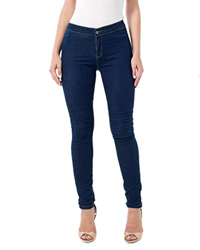 Pantalons Bleu Fonc Skinny Jeans Stretch Femme Taille Haute Crayon Denim ZhuiKunA w8AfHv