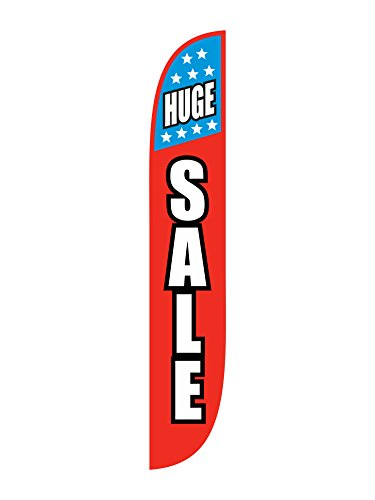 (LookOurWay Huge Sale With Stars Feather Flag, 12-Feet)