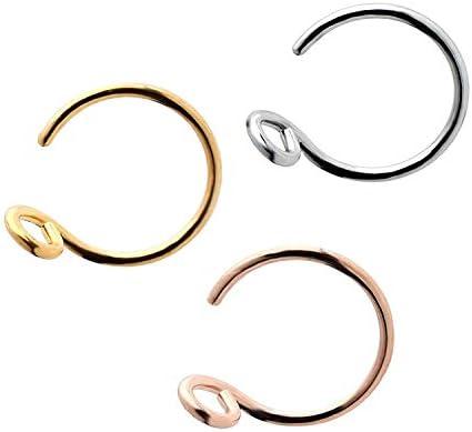 Fake Nose Ring Faux Septum Ring Fake Small Ear Hoop Faking Lip