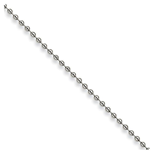 22' Steel Bead Chain (Stainless Steel 3mm Ball Chain 22'' inches length)