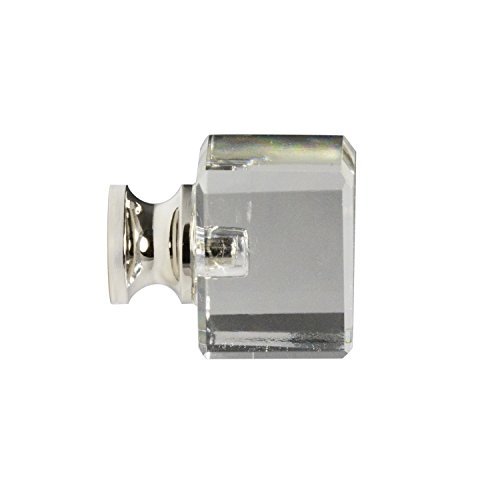 #G-80 CKP Brand Elegance Glass Collection 1 in. (25mm) Clear Glass Knob with Polished Nickel Base - 10 Pack by CKP (Image #3)