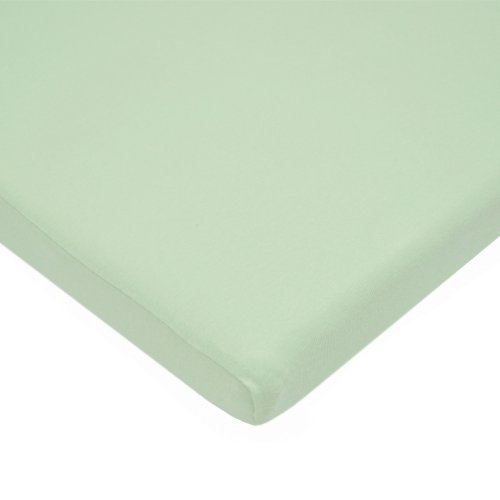 TL Care 100% Natural Cotton Value Jersey Knit Fitted Cradle Sheet, Celery, Soft Breathable, for Boys and Girls