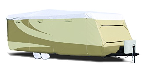 ADCO 32843 Designer Series Tan/White Tyvek Travel Trailer RV Cover