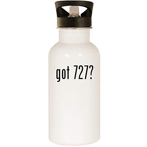 Dc 3 United Airlines - got 727? - Stainless Steel 20oz Road Ready Water Bottle, White