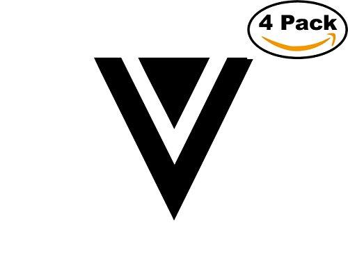 Veeva 4 Stickers 4X4 Inches Car Bumper Window Sticker Decal